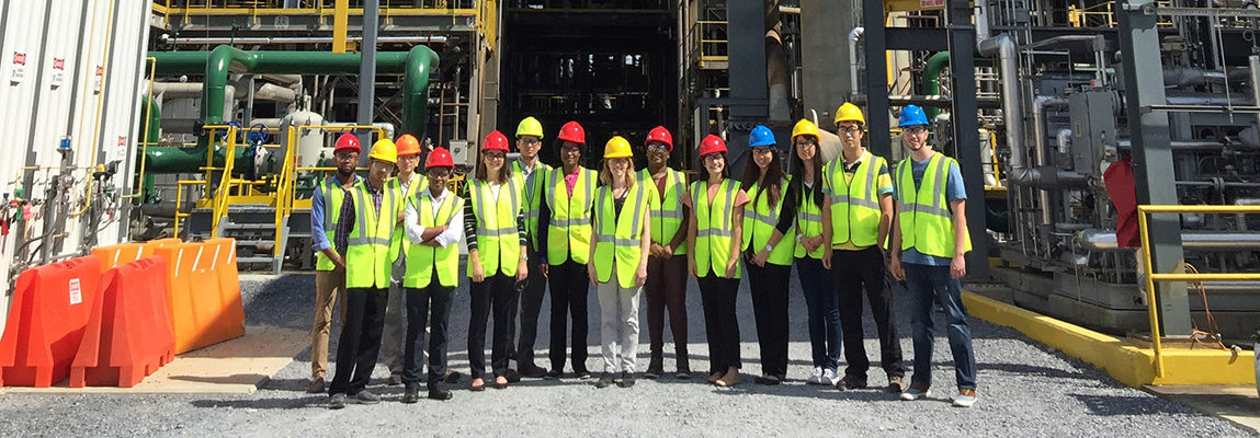 Students in the ExxonMobil Success Program on field trip to Southern Company facility