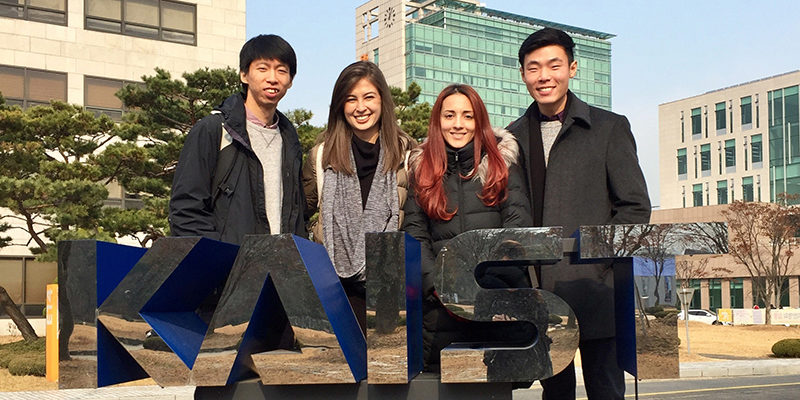 students visiting KAIST
