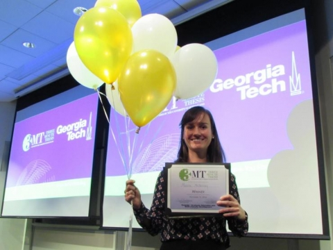<p>Monica McNerney won the 2016 Three Minute Thesis competition.</p>