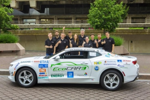 <p>Tech's student-driven EcoCAR team is working to transform a Chevrolet Camaro into an environmentally friendly, hybrid electric vehicle as part of a four-year competition sponsored by the Department of Energy and General Motors.</p>