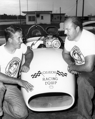 <p>Racing pioneer Bob Osiecki collaborated with AE professor John Harper to break a world speed record at Daytona International Speedway in 1961.</p>