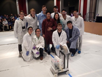 <p>The Georgia Tech Chem-E-Car team won won the 2016 AIChE Southern Regional Chem-E-Car competition .</p>