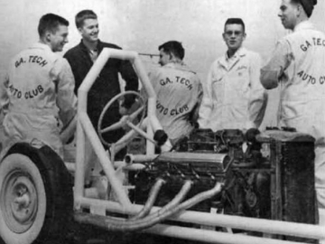 <p>The first rail dragster in Georgia was built by students in the Georgia Tech Auto Club. </p>